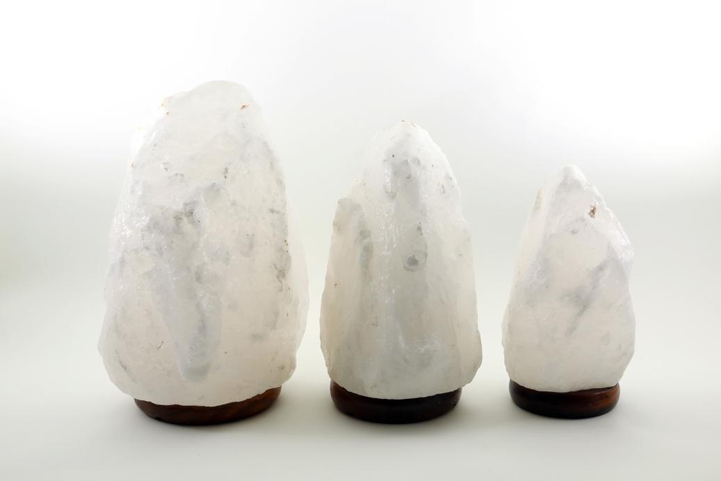 ヒマラヤ岩塩ランプホワイト